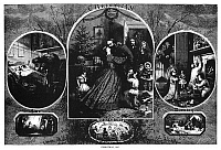 0266568 © Granger - Historical Picture ArchiveNAST: CHRISTMAS, 1863.   Scenes of Christmas during the Civil War. Engraving by Thomas Nast, 1863.