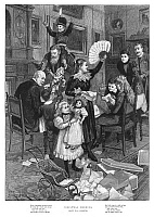 0267719 © Granger - Historical Picture ArchiveFORESTIER: CHRISTMAS, 1896.   'Christmas Morning.' Engraving after Amédée Forestier, 1896.