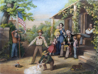 0008199 © Granger - Historical Picture ArchiveAMERICAN INDEPENDENCE 1859.   The Fourth of July. Lithograph, 1859.