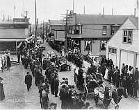 0121716 © Granger - Historical Picture ArchiveALASKA: 4TH OF JULY, 1915.   Fourth of July parade in Nome, Alaska, 1915.