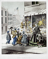 0102967 © Granger - Historical Picture ArchiveNEW YEAR'S EVE, 1865.   New Year's Eve in New York City. Lithograph by Fuchs, published by Kimmel and Forster, 1865.