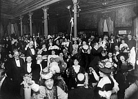 0109403 © Granger - Historical Picture ArchiveNEW YEAR'S EVE, c1907.   New Year's Eve party at Restaurant Martin in New York City, c1907.