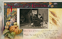 0095787 © Granger - Historical Picture ArchiveTHANKSGIVING CARD, 1909.   American postcard, 1909.