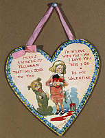 0115416 © Granger - Historical Picture ArchiveVALENTINE'S DAY CARD.   American Valentine's Day card, early 20th century, featuring the comic strip characters Buster Brown and his dog Tige, created in 1902 by Richard Felton Outcault.