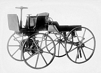 0164152 © Granger - Historical Picture ArchiveAUTOMOBILE.   A model of one of the first automobiles, late 19th century.
