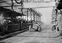 0170450 © Granger - Historical Picture ArchiveTARGA FLORIO RACE, 1908.   Jean Porporato finishing in fourth place in a Berliet automobile in the 1908 Targa Florio race in Sicily, Italy.