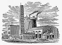 0078062 © Granger - Historical Picture ArchiveKENTUCKY: FACTORY, 1876.   The Ashland Furnace and Coal Works at Ashland, Kentucky. Wood engraving, 1876.