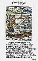 0104567 © Granger - Historical Picture ArchiveFISHERMAN, 1568.   Woodcut, 1568, by Jost Amman.