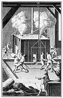 0077616 © Granger - Historical Picture ArchiveFOUNDRY, 18th CENTURY.   Casting a bronze statue in an 18th century French foundry. Copper engraving from Denis Diderot's 'L'Encyclopedie.'
