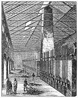 0077621 © Granger - Historical Picture ArchiveGAS WORKS, 19th CENTURY.   Interior of a 19th century coal gas works. Wood engraving, c1875.