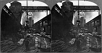0108670 © Granger - Historical Picture ArchiveSTEEL MILL, c1905.   Yard at a steel works at Pittsburgh, Pennsylvania. Stereograph, c1905.