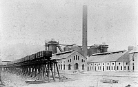 0108673 © Granger - Historical Picture ArchiveSTEEL MILL, c1886.   Blast furnaces at the Edgar Thomson Steel Works in Bessemer, Pennsylvania, c1886.