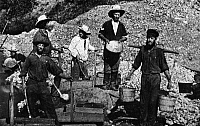 0017698 © Granger - Historical Picture ArchiveCALIFORNIA: GOLD RUSH.   Placer miners. Daguerreotype, probably early 1850s.