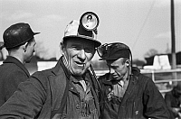 0107762 © Granger - Historical Picture ArchiveCOAL MINERS, 1937.   Three coal miners in Birmingham, Alabama. Photograph by Arthur Rothstein, Febuary 1937.