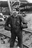 0107785 © Granger - Historical Picture ArchiveHINE: CHILD LABOR, 1908.   A 'tipple boy,' coal miner at the Turkey Knob Mine, Macdonald, West Virginia. Photograph by Lewis Hine, August 1908.