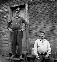 0107913 © Granger - Historical Picture ArchiveCOAL MINERS, 1938.   Two coal miners at Scotts Run, West Virginia. Photograph by Marion Post Wolcott, September 1938.