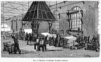 0079612 © Granger - Historical Picture ArchiveFRANCE: PAPER MANUFACTURE.   A Fourdrinier machine, the standard paper-making machine invented in France by Nicolas Louis Robert before 1798. Wood engraving, French, 19th century.