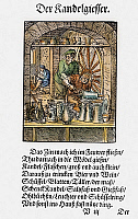 0104570 © Granger - Historical Picture ArchivePEWTERER, 1568.   Woodcut, 1568, by Jost Amman.