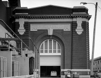 0526647 © Granger - Historical Picture ArchiveCHICAGO: FISK STATION.   Entrance to the Fisk Street Generating Station in Chicago, built in 1903.