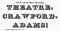 0097244 © Granger - Historical Picture ArchiveTYPOGRAPHY, 1825.   Four lines pica shaded, a typeface from the catalog of Baker & Greele, Boston, 1825.