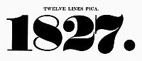 0097247 © Granger - Historical Picture ArchiveTYPOGRAPHY, 1825.   Twelve lines pica, a typeface from the catalog of Baker & Greele, Boston, 1825.