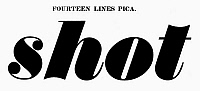 0097251 © Granger - Historical Picture ArchiveTYPOGRAPHY, 1825.   Fourteen lines pica, a typeface from the catalog of Baker & Greele, Boston, 1825.