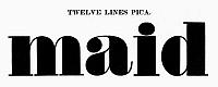 0097252 © Granger - Historical Picture ArchiveTYPOGRAPHY, 1825.   Twelve lines pica, a typeface from the catalog of Baker & Greele, Boston, 1825.