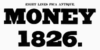 0097254 © Granger - Historical Picture ArchiveTYPOGRAPHY, 1825.   Eight lines pica antique, a typeface from the catalog of Baker & Greele, Boston, 1825.