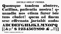 0097264 © Granger - Historical Picture ArchiveTYPOGRAPHY, 1825.   Double great primer, a typeface from the catalog of Baker & Greele, Boston, 1825.