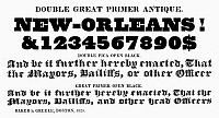 0097270 © Granger - Historical Picture ArchiveTYPOGRAPHY, 1825.   Double great primer antique, a typeface from the catalog of Baker & Greele, Boston, 1825.