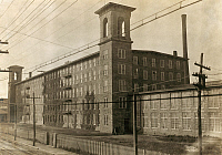 0131515 © Granger - Historical Picture ArchiveTEXTILE MILL, 1916.   The Richard P. Borden Mill in Fall River, Massachusetts. Photograph by Lewis Hine, June 1916.
