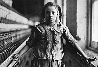 0018410 © Granger - Historical Picture ArchiveHINE: CHILD LABOR, 1908.   Ten year old Sadie Feifer working in a North Carolina cotton mill. Photograph by Lewis Hine, 1908.