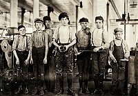 0132606 © Granger - Historical Picture ArchiveHINE: CHILD LABOR, 1908.   A group of young workers at the Ivey Mill Company in Hickory, North Carolina. Photograph by Lewis Hine, November 1908.