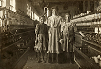 0132607 © Granger - Historical Picture ArchiveHINE: CHILD LABOR, 1908.   Young textile mill workers at Rhodes Mfg. Company in Lincolnton, North Carolina. Photograph by Lewis Hine, November 1908.