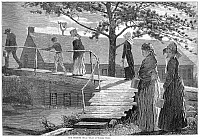 0001597 © Granger - Historical Picture ArchiveMORNING BELL, 1873.   Wood engraving, 1873 after Winslow Homer.