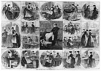 0183798 © Granger - Historical Picture ArchiveLABOR: WOMEN, 1868.   'Women and their work in the metropolis.' Engraving from Harper's Bazaar by Stanley Fox, 1868.