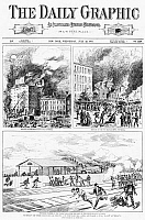 0267042 © Granger - Historical Picture ArchiveGREAT RAILROAD STRIKE, 1877.   'Scenes of the railroad riots at Pittsburg and Altoona, PA., last Sunday.' Engravings from 'The Daily Graphic,' 25 July 1877.