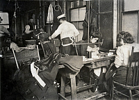 0117876 © Granger - Historical Picture ArchiveHINE: SWEATSHOP LABOR, 1908.   Women sewing garments in a sweatshop in New York City. Photographed by Lewis Hine, 1908.