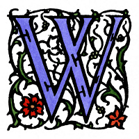 0045182 © Granger - Historical Picture ArchiveINITIAL 'W', c1900.   A decorative initial 'W' with arabesque design, English, c1900.