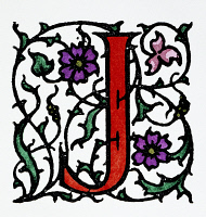0045736 © Granger - Historical Picture ArchiveINITIAL 'J', c1900.   A decorative initial 'J' with arabesque design, English, c1900.