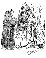 0002874 © Granger - Historical Picture ArchiveROBIN HOOD.   'Friar Tuck marries Robin Hood and Maid Marian.' Illustration from a late 19th century American juvenile edition.