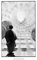 0003417 © Granger - Historical Picture ArchiveH.G. WELLS: MEN IN THE MOON.   Illustration from the first edition of 'The First Men in the Moon,' 1901, by H.G. Wells.
