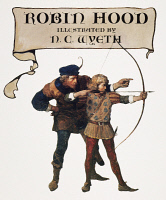 0007503 © Granger - Historical Picture ArchiveGILBERT: ROBIN HOOD.   Title page from the edition of Henry Gilbert's 'Robin Hood' illustrated by N.C. Wyeth in 1917.