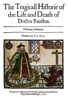 0009477 © Granger - Historical Picture ArchiveMARLOWE'S DOCTOR FAUSTUS.   Woodcut title page to the 1631 edition of Christopher Marlowe's