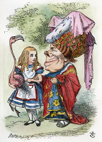 0011157 © Granger - Historical Picture ArchiveALICE IN WONDERLAND, 1865.  Alice and the Duchess. Illustration by John Tenniel from the first edition of Lewis Carroll's 'Alice's Adventures in Wonderland,' 1865.