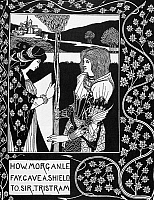 0012949 © Granger - Historical Picture ArchiveMORGAN LE FAY.   Drawing by Aubrey Beardsley for 'Le Morte D'Arthur,' 1893-94.