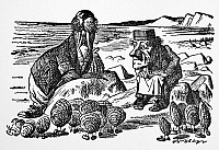 0017181 © Granger - Historical Picture ArchiveCARROLL: LOOKING GLASS.   The Walrus, the Carpenter, and the Oysters. Illustration by Sir John Tenniel to the first edition of Lewis Carroll's 'Through the Looking Glass,' 1872.