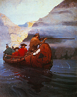 0027584 © Granger - Historical Picture ArchiveLAST OF THE MOHICANS, 1919.   Illustration by N.C. Wyeth from the 1919 edition of 'The Last of the Mohicans' by James Fenimore Cooper.