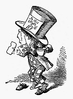 0030783 © Granger - Historical Picture ArchiveCARROLL: ALICE, 1865.   The Mad Hatter, after the design by Sir John Tenniel for the first edition of Lewis Carroll's 'Alice's Adventures in Wonderland.'