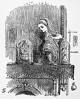 0030787 © Granger - Historical Picture ArchiveCARROLL: LOOKING GLASS.   Alice entering the Looking-Glass. Illustration by John Tenniel from the first edition of Lewis Carroll's 'Through the Looking Glass,' 1872.